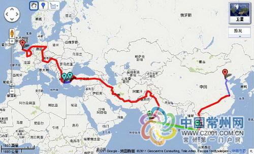 毕业旅游路线图手绘