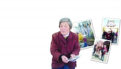 南京八旬老太独自一人游云南 图片由陈老太提供