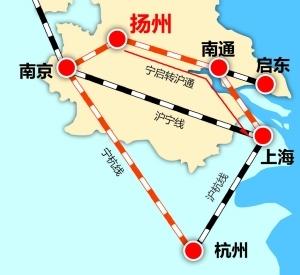 沪通铁路宁杭城际将通车 扬州市两小时可达沪