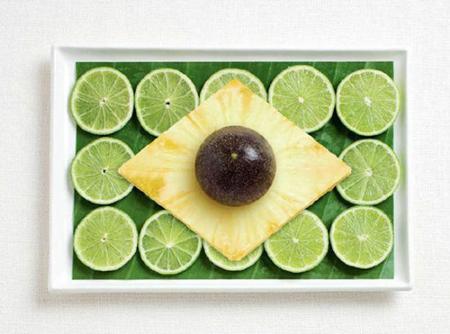 巴西:香蕉叶,柠檬,菠萝,百香果