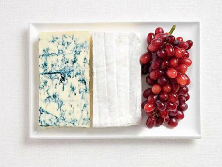 法国:蓝纹奶酪,布里干酪,葡萄