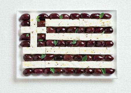 希腊:卡拉玛塔橄榄,菲达奶酪