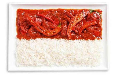 印尼:辣咖喱,米饭
