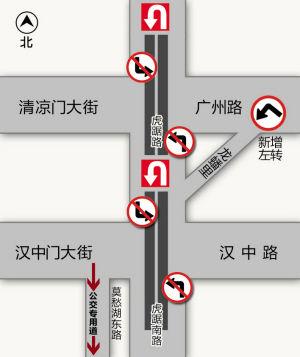 管制路段交通示意图