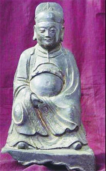 郑和印度鎏金铁像。