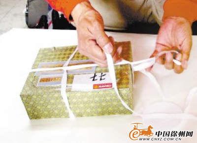 连捆扎用的细绳都是进口的专用品