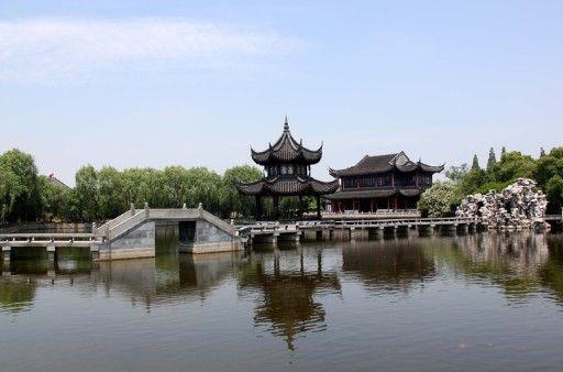 苏州风景简笔画带颜色