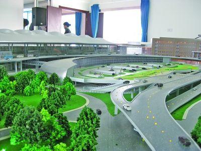 新航站楼立体模型。徐媛园 摄