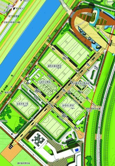 江北体育公园青奥赛场规划图。