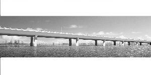 宜马快速通道跨湖大桥示意图
