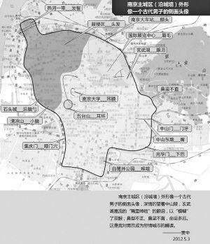 网友地图串起明城墙 绘出人脸酷似朱元璋(组图