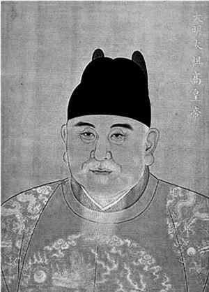 朱元璋宫廷画像。