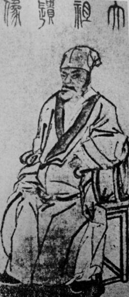 明孝陵现存的朱元璋画像。