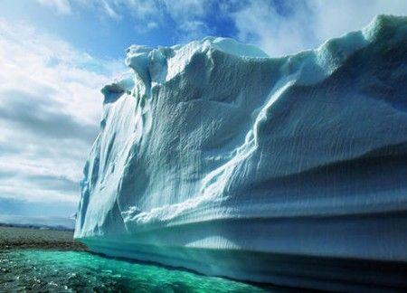 正在融化的冰川