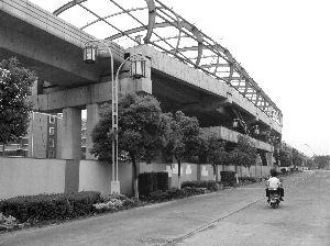 2号线高架站台已显现雏形
