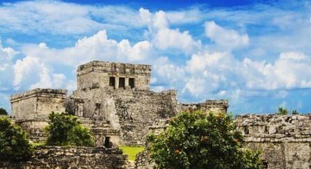 在墨西哥图卢姆观赏日出别有风味