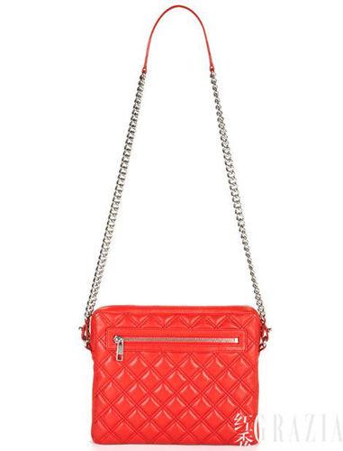 红色菱格纹iPad链条包(Marc Jacobs)