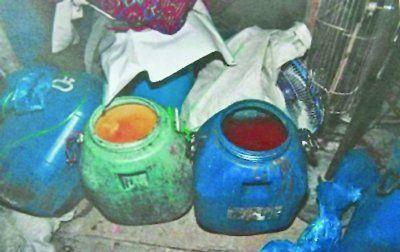 非法炼制地沟油的窝点。