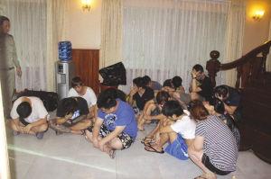 在泰国抓获的部分犯罪嫌疑人