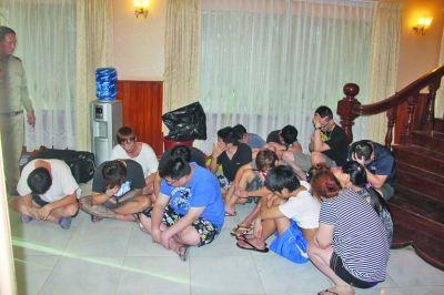 在泰国抓获的部分犯罪嫌疑人。