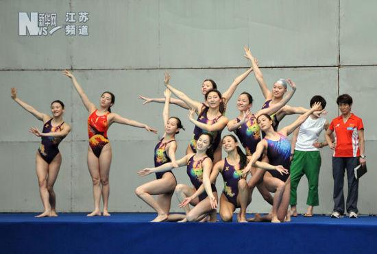 中国花样游泳队扬州备战伦敦奥运会