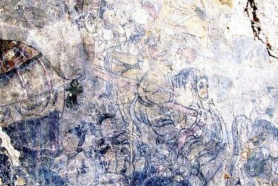 古壁画人物精美栩栩如生