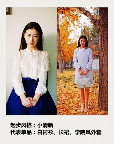 张辛苑民间第一美女时尚穿搭风格养成记