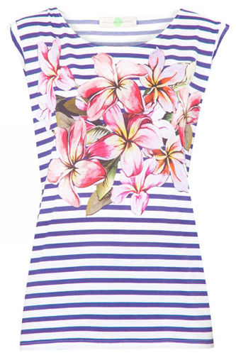 Stella McCartney花朵印花以及条纹背心,价格:1,820 CNY