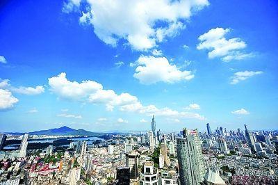 七月开始至今,南京空气质量一直很好。刘浏 摄