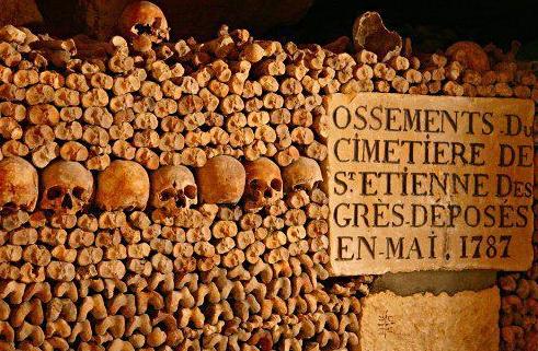 组图:巴黎地下墓室世界上最大的藏骨库