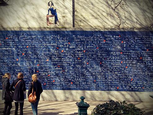 法国巴黎爱墙
