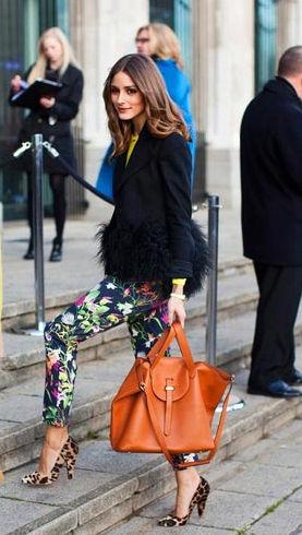 明星最爱的印花长裤教你搭出欧美范儿