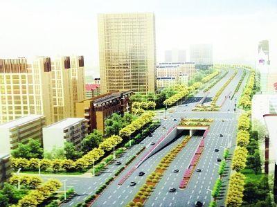 改造后江东路将新添四座下穿式短隧。效果图