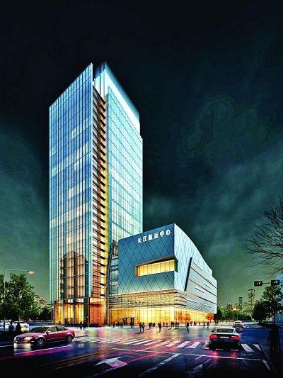 南京长江国际航运中心商埠街项目效果图。