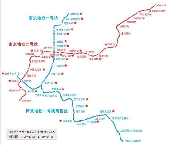 南京地铁线路图