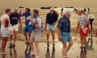 外国人体验海上迪斯科