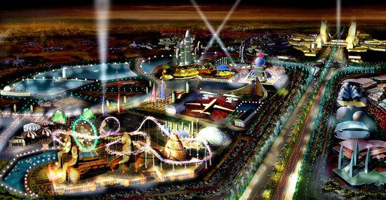 迪拜乐园夜景