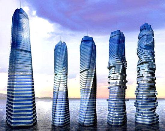 迪拜旋转建筑