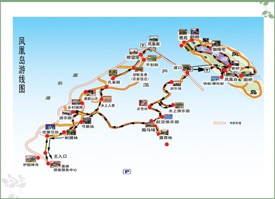 岛内旅游路线图