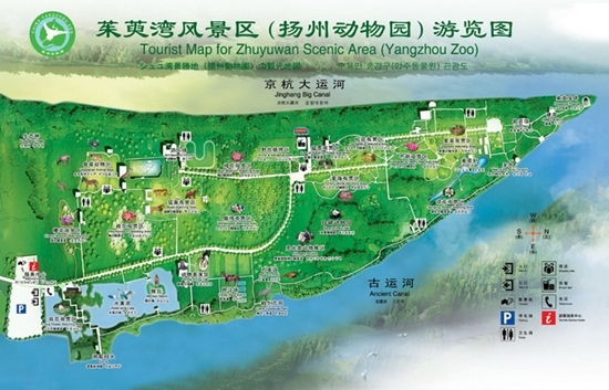茱萸湾风景区游览图