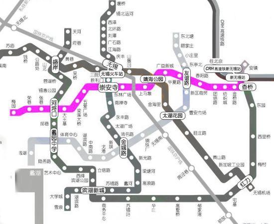 自西向东22个车站的名称分别为梅园站