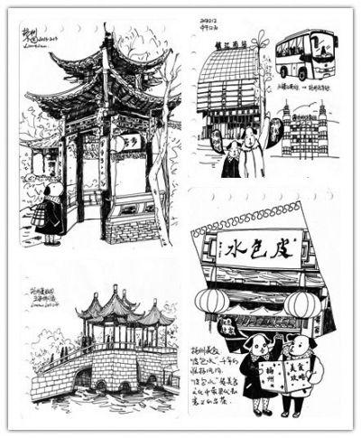 北京游客手绘扬州游攻略