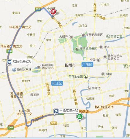 图为扬子江路地图截图