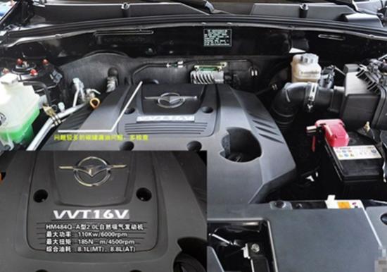 海马S7采用了海马自主研发的HM484Q-A型2.0自然吸气发动机,配高清图片