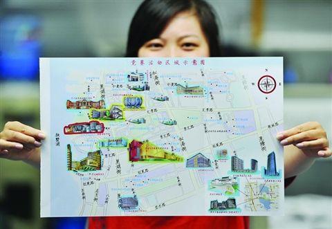 地图融入手绘卡通元素