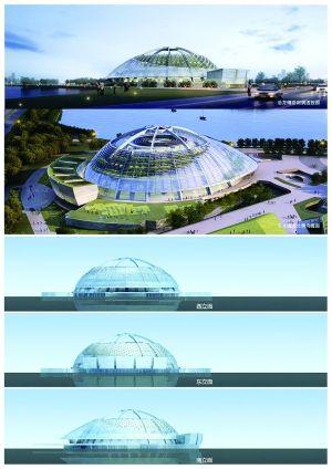 改造后的太阳宫效果图,外立面变成了玻璃幕墙 图片来自南京市规划局