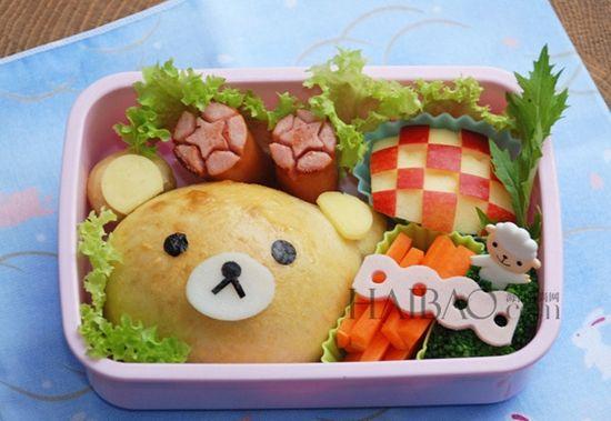 用 熊料理 传递快乐正能量 造型可爱料理