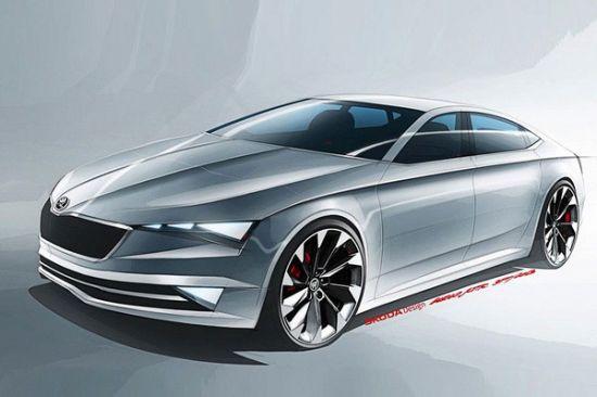 斯柯达vision c概念车设计图 将3月发布