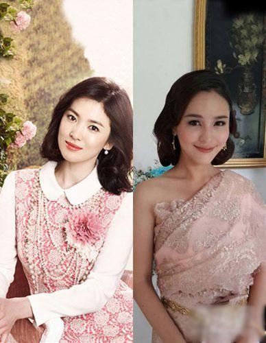 宋慧乔vs李海娜之粉色连衣裙