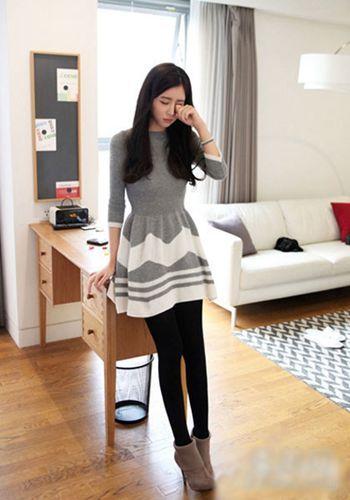 毛衣连衣裙 优雅LOOK8